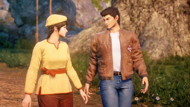 Ryo e Shenhua mano nella mano in Shenmue 3