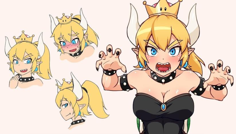 Un concept art fan-made di Bowsette