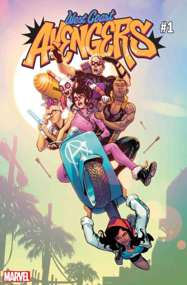 La cover del primo numero di West Coast Avengers