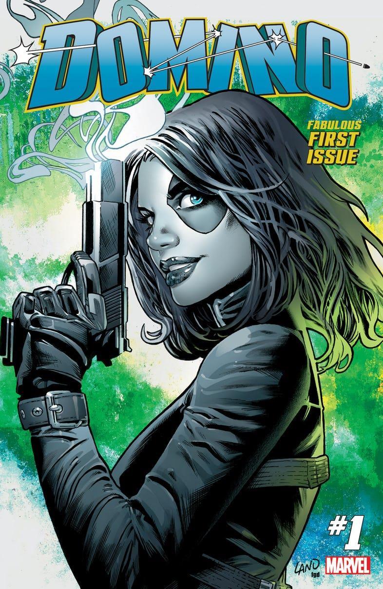 Domino è pronta all'azione sulla cover del primo numero della sua nuova run