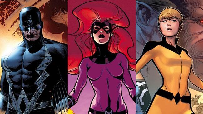 Gli Inumani Fraccia Nera, Medusa e Crystal nei fumetti Marvel