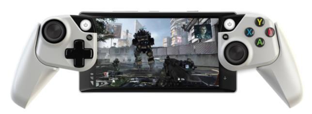 Il controller di Microsoft per il mobile gaming utilizzato con uno smartphone