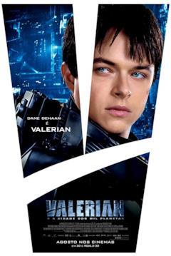 Un poster con il primo piano di Valerian
