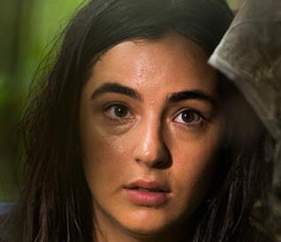 L'attrice Alanna Masterson in The Walking Dead