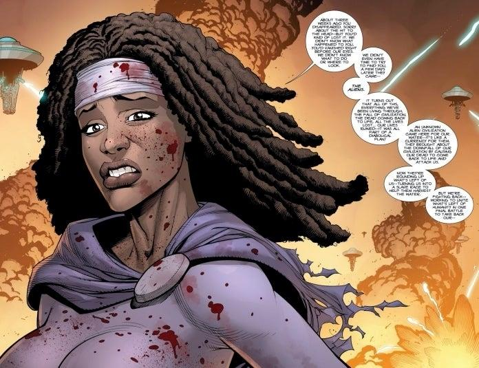 The Walking Dead: Michonne e l'origine aliena del virus