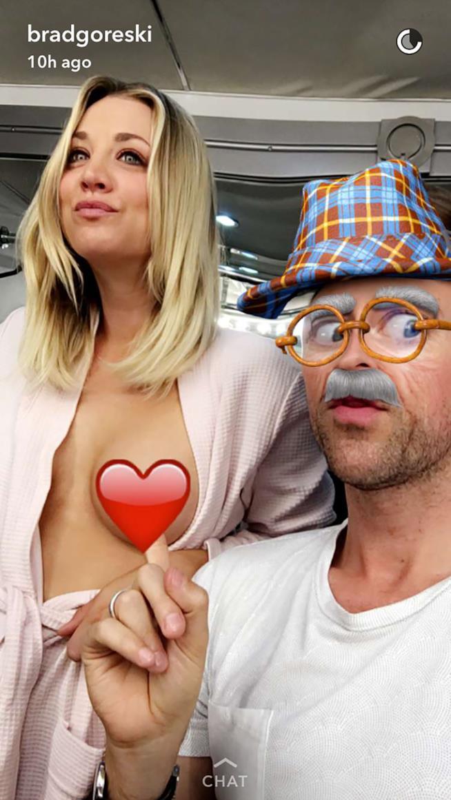 Kely Cuoco in topless con Brad Goreski