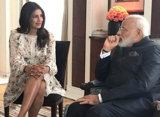 Priyanka Chopra fa visita al Primo Ministro indiano