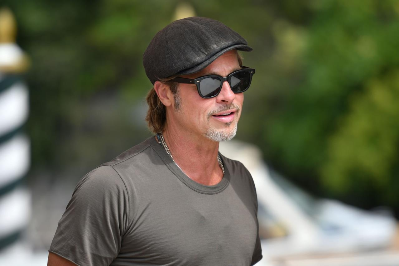 Brad Pitt all'arrivo a Venezia