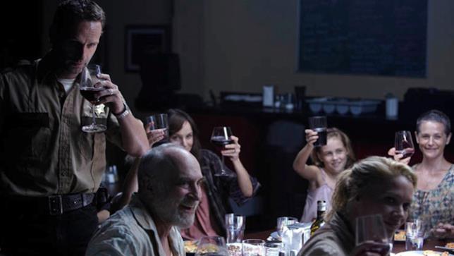 Una scena tratta da The Walking Dead