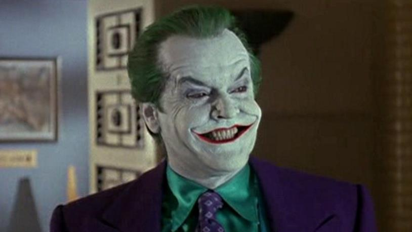Jack Nicholson nei panni del Joker in una scena di Batman di Tim Burton