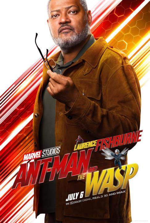 Laurence Fishburne nel character poster di Ant-Man & The Wasp