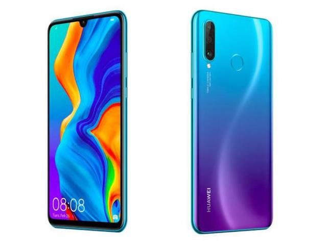Huawei P30 Lite nella colorazione blu