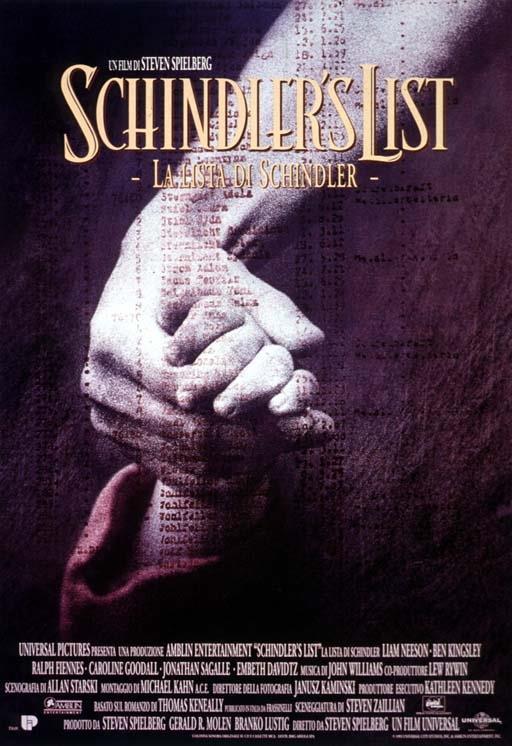 Il poster italiano di Schindler's List