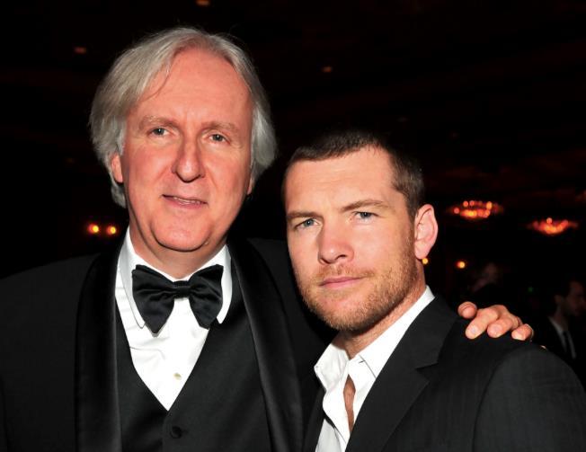 James Cameron e Sam Worthington a una serata di gala