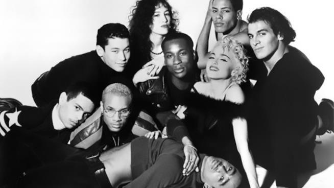 Madonna e i ballerini di Vogue