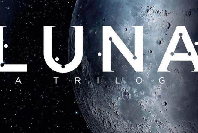 Un dettaglio della copertina di Luna: la trilogia