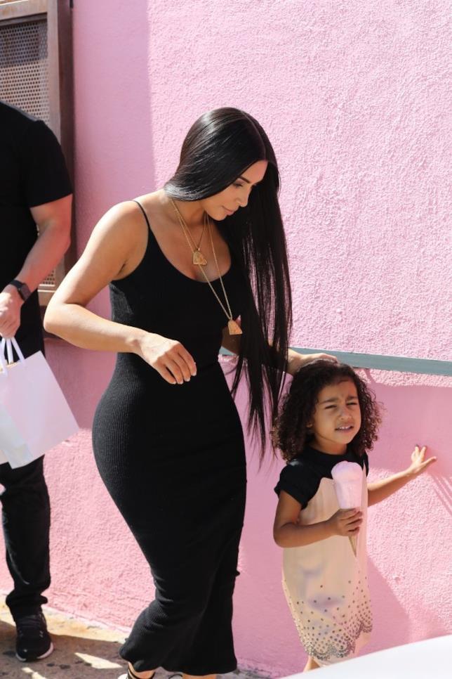 Kim Kardashian con la piccola North West