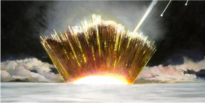 Esplosione causata da un asteroide