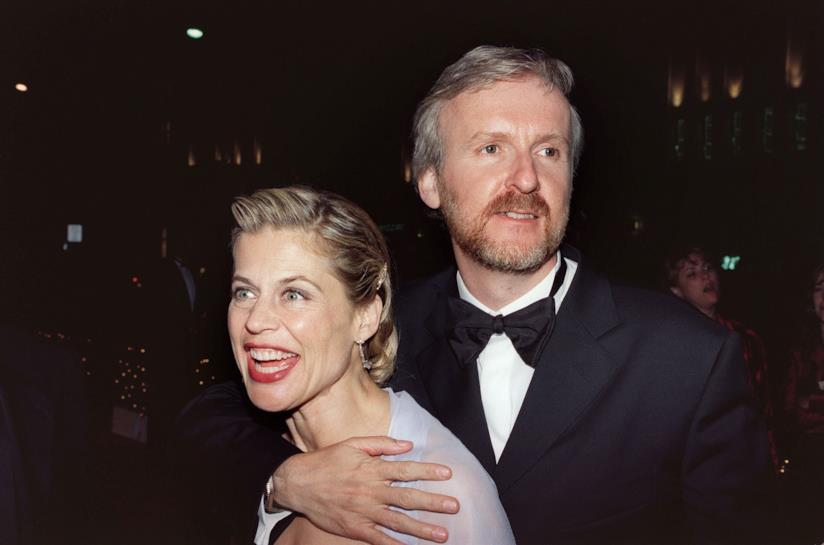 Linda Hamilton insieme al regista e marito James Cameron in una foto di repertorio