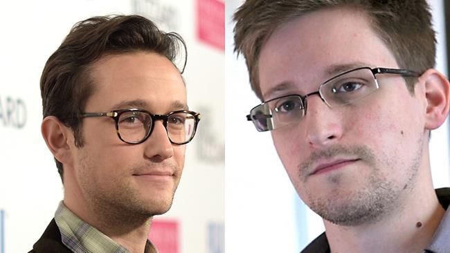 L'attore Joseph Gordon-Levitt e Edward Snowden