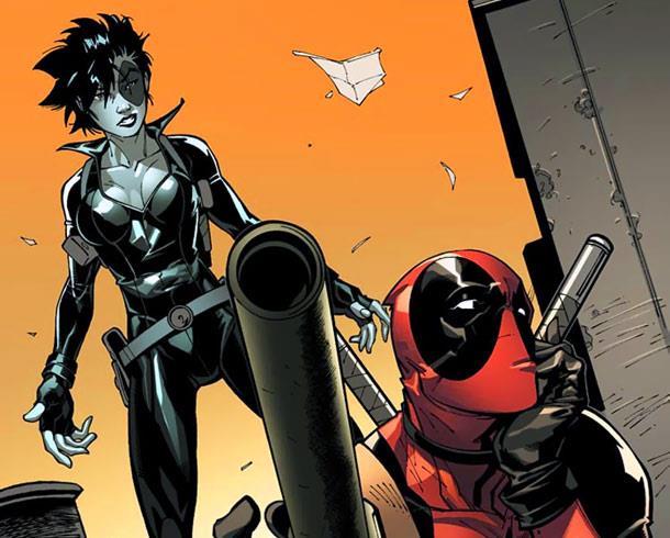 Deadpool e Domino immortalati in un fumetto