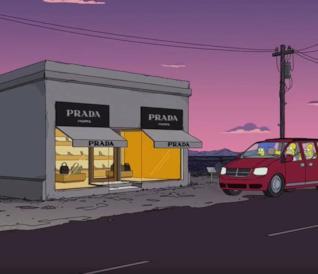 Prada Marfa appare nella 30esima stagione de I Simpson