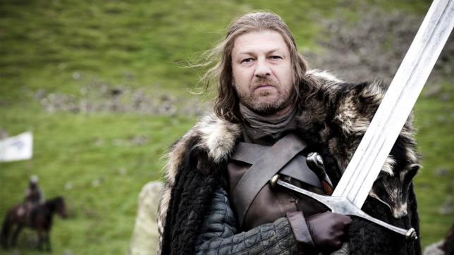 Ned Stark con la fedele Ghiaccio