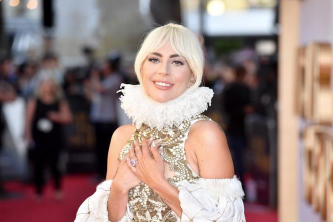 Lady Gaga alla premiere del film A Star is Born