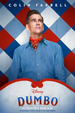 Il character poster di Dumbo dedicato a Holt Farrier