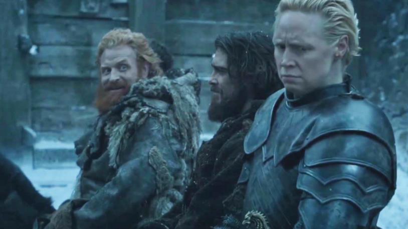 Kristofer Hivju e Gwendoline Christie in Game of Thrones