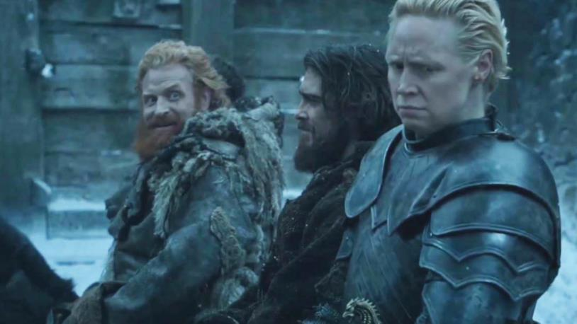 Tormund e Brienne in Game of Thrones