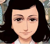 La cover del fumetto su Anne Frank