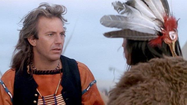 Una scena di Kevin Costner con i Sioux in Balla coi lupi
