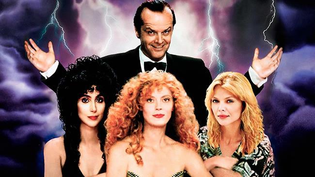 Jack Nicholson, Cher, Susan Sarandon e Michelle Pfeiffer in un poster promozionale del film