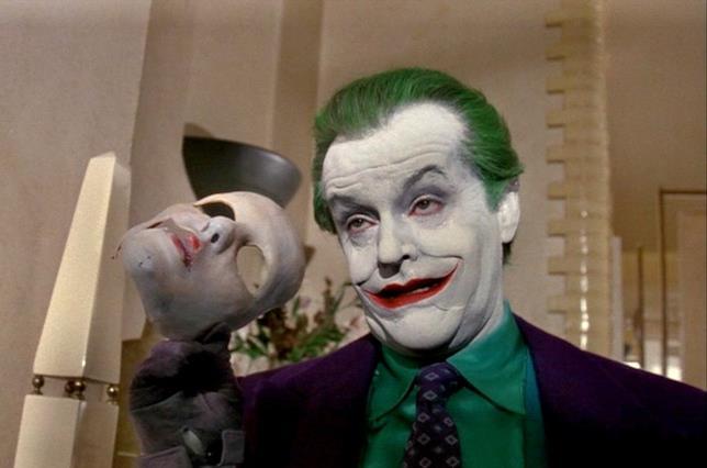 Jack Nicholson è Joker nel Batman di Tim Burton