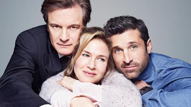 Colin Firth, Renée Zellweger e Patrick Dempsey in Bridget Jones's Baby