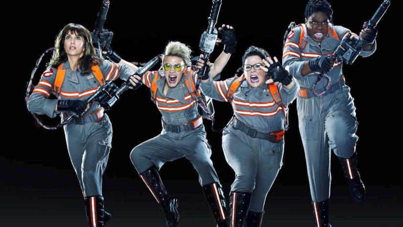 Le quattro protagoniste del reboot di Ghostbusters