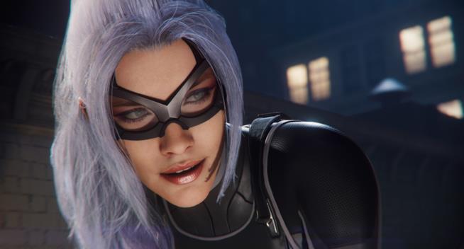 Un primo piano di Black Cat da Marvel's Spider-Man su PS4