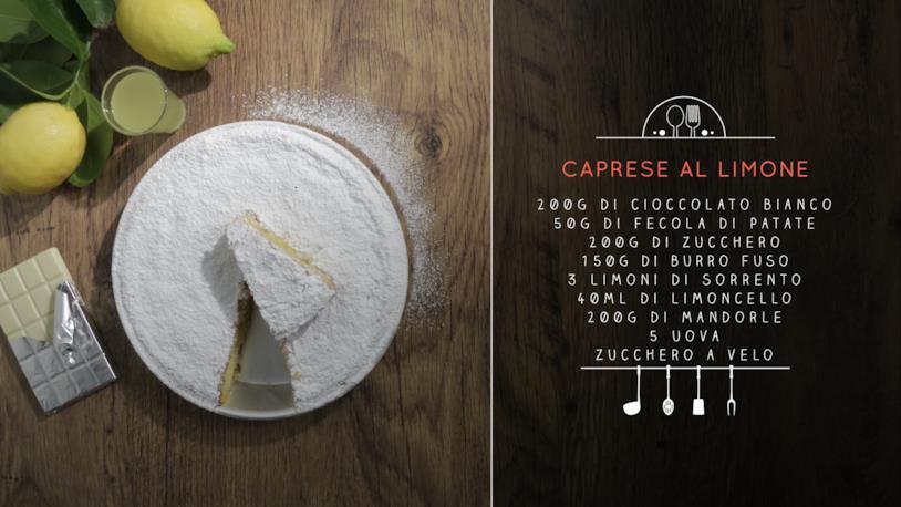 La ricetta della caprese al limone