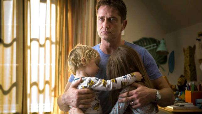 Gerard Butler durante una scena del film Quando un Padre