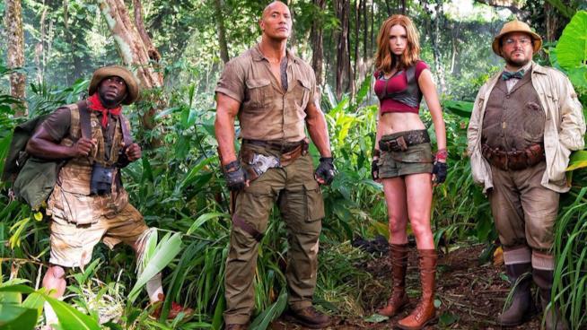 Gli attori del cast di Jumanji 2 nella giungla selvaggia
