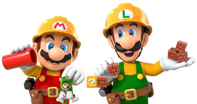 Mario e Luigi protagonisti di Super Mario Maker 2