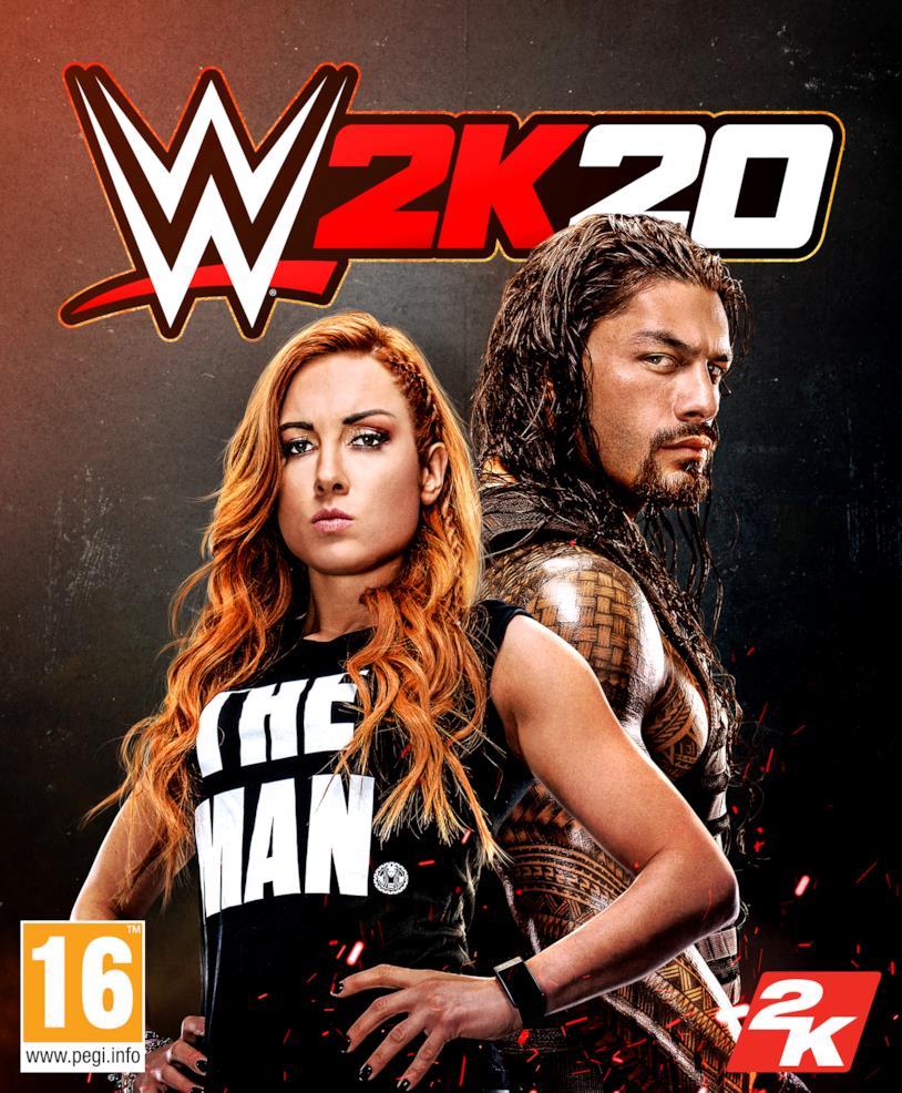 Becky Lynch e Roman Reigns sulla cover di WWE 2K20