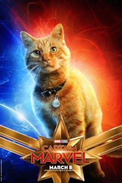 Il character poster di Captain Marvel con Goose