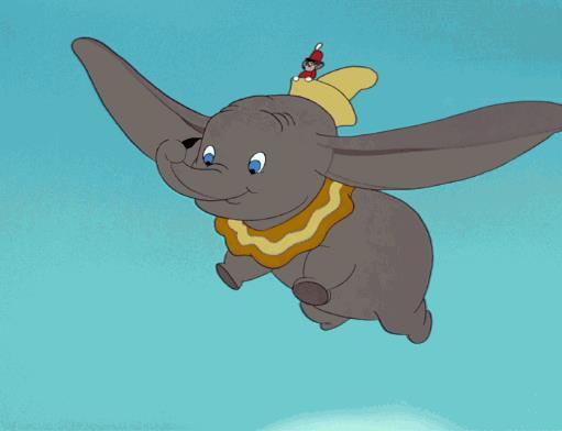 Una scena del Classico Dumbo