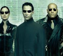 Neo, Trinity e Morpheus, protagonisti della trilogia originale di Matrix