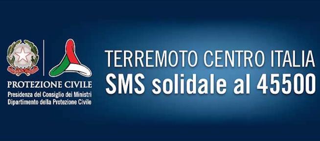 Il numero attivato dalla Protezione Civile per l'SMS solidale di 2 euro