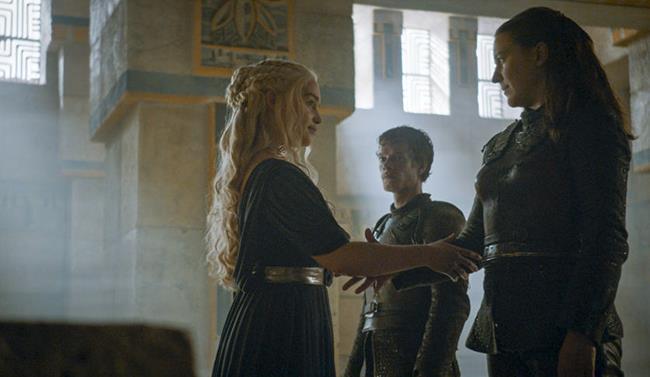 Daenerys e Yara in Game of Thrones