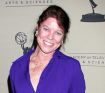 Erin Moran a un evento ufficiale in un'immagine di repertorio