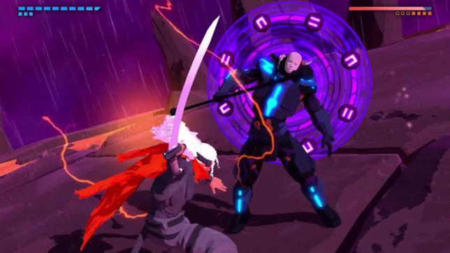 La spada è una delle due armi disponibili in Furi